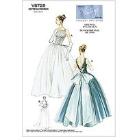 Vogue Vintage Womens Dress Sewing Pattern, 8729