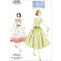 Vogue Vintage Womens Dresses Sewing Pattern, 8789