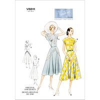 Vogue Vintage Womens Dresses Sewing Pattern, 8811