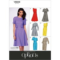 Vogue Womens Dresses Sewing Pattern, 8828