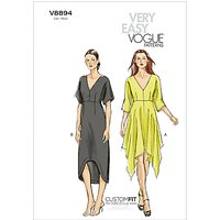 Vogue Womens Dresses Sewing Pattern, 8894