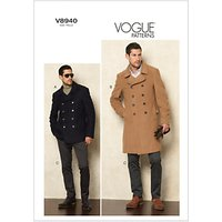 Vogue Men's Jacket and Trousers Sewing Pattern, 8940