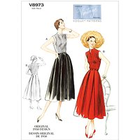 Vogue Vintage Womens Dress Sewing Pattern, 8973