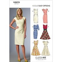 Vogue Womens Dresses Sewing Pattern, 8972
