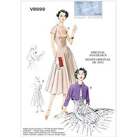 Vogue Vintage Womens Dress Sewing Pattern, 8999