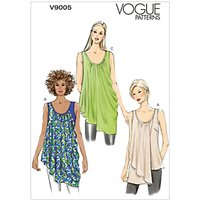 Vogue Womens Vest Top Sewing Pattern, 9005
