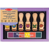 Melissa & Doug Wooden Handle Stamps Set