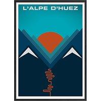 Jeremy Harnell - LAlpe dHuez Framed Print, 74 x 53cm