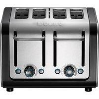 Dualit Architect 4-Slice Toaster, Brushed Steel / Black
