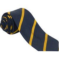 Sancton Wood School Griffin House Tie, 52, Navy/Yellow