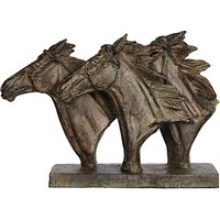 Libra Horse Trio Head Sculpture