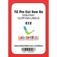 Labels4Kids Hot Cut Sew On Clothing Labels, Pack of 72