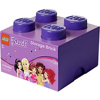 LEGO Friends 4 Stud Storage Brick, Purple
