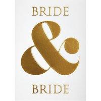 Lagom Designs Bride And Bride Wedding Card