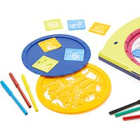 John Lewis Mandala Drawing Toy & Stencil Set