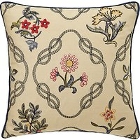Morris & Co Strawberry Thief Embroidered Cotton Cushion