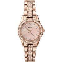 Sekonda 2034.27 Women's Rose Gold Plated Bracelet Strap Watch, Sandblast Rose