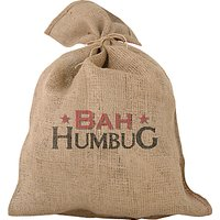 Bah Humbug Traditional Jute Christmas Santa Sack