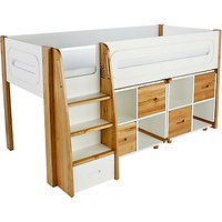Stompa Curve Mid-Sleeper and 2 Cube Shelving Units, 4 Doors