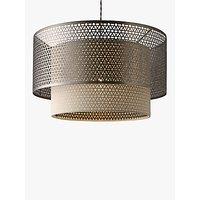John Lewis Meena Fretwork Steel Pendant Light