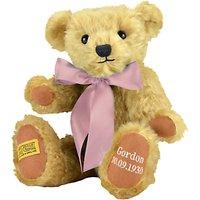 Merrythought Personalised Shrewsbury Teddy Bear with Silver Thread