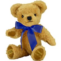 Merrythought Personalised London Curly Gold Teddy Bear With Gold Thread