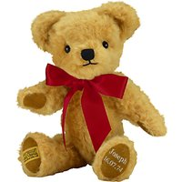 Merrythought Personalised London Curly Gold Teddy Bear With Silver Thread