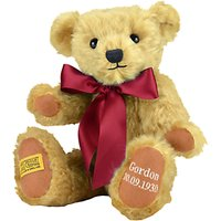 Merrythought Personalised Shrewsbury Teddy Bear With Silver Thread