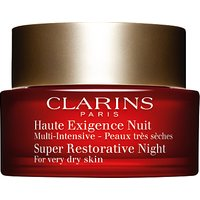 Clarins Super Restorative Night Cream, For Very Dry Skin, 50ml