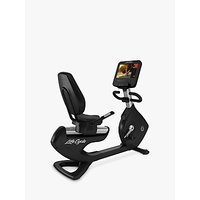 Life Fitness Platinum Club Series Recumbent Lifecycle Exercise Bike with Discover SE Tablet Console