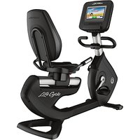 Life Fitness Platinum Club Series Recumbent Lifecycle Exercise Bike with Discover SI Tablet Console