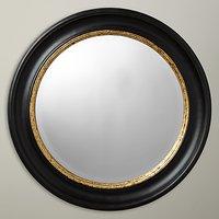John Lewis & Partners Circle Wall Mirror, Dia.68cm, Black/Gold