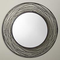 John Lewis & Partners Fusion Swirl Mirror, Dia.114cm, Grey
