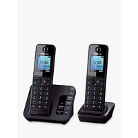 Panasonic KX-TGH222EB Digital Telephone and Answering Machine with Nuisance Call Control, Twin DECT