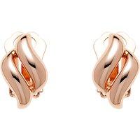 Finesse Diamond Shape Clip-On Earrings, Rose Gold