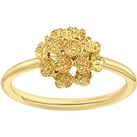 shop for London Road 9ct Yellow Gold Posy Ring, Gold at Shopo