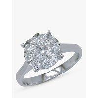 shop for E.W Adams 18ct White Gold Diamond Illusion Claw Set Ring, N at Shopo
