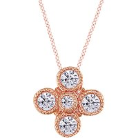 shop for London Road 18ct Rose Gold Diamond Millgrain Pendant, Rose Gold at Shopo