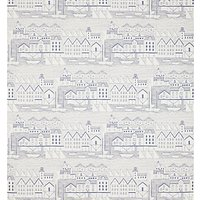 John Lewis & Partners Nordic Houses Wallpaper, Blue