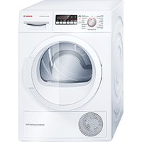 Bosch WTW85260GB Heat Pump Condenser Tumble Dryer, 8kg Load, A++ Energy Rating, White