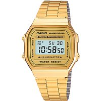 Casio A168WG-9EF Unisex Core Bracelet Strap Watch, Gold