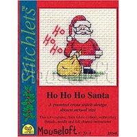 Ho Ho Ho Santa Cross Stitch Card & Envelope Kit