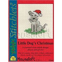 Mouseloft Little Dogs Christmas Cross Stitch with Card and Envelope