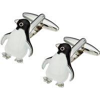 John Lewis Penguin Cufflinks, Black/White