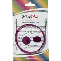 Knit Pro Single Cable Interchangeable Needle Cable, 94cm, Purple