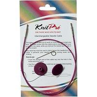 Knit Pro Single Cable Interchangeable Needle Cable, 56cm, Purple