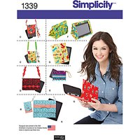 Simplicity Phone & Tablet Accessories Sewing Patterns, 1339