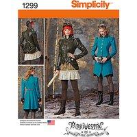 Simplicity Womens Costume Coat, Jacket & Skirt Sewing Pattern, 1299