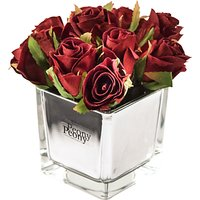 Peony Artificial Roses in Mirror Cube