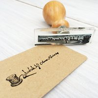 StompStamps Personalised Cotton Reel Name Stamp